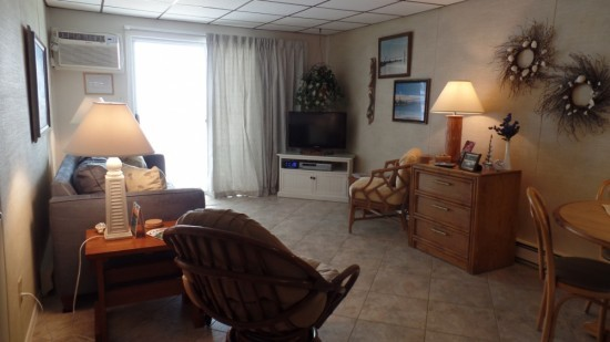 Large Condo Living Room in Ocean City MD